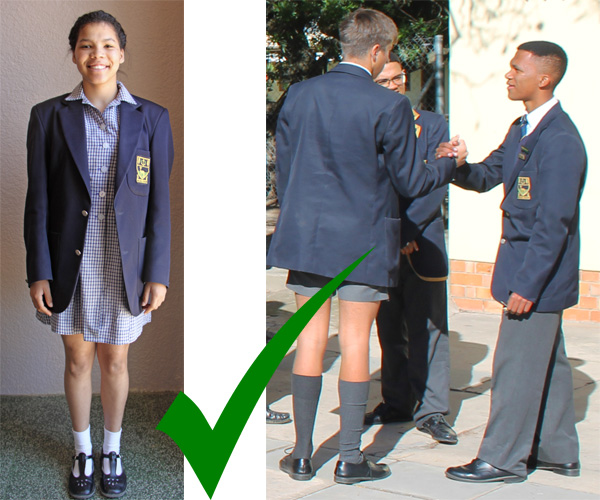 The prescribed School Clothes for boys and girls in Summer.